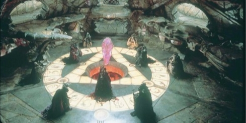 The Dark Crystal Skeksis ceremony