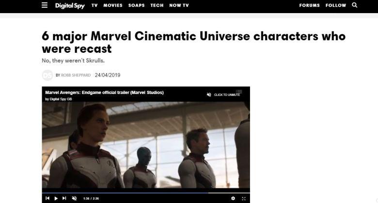 Digital Spy - Avengers Endgame Recasting the MCU Screenshot