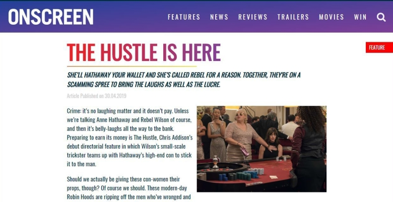 The Hustle Onscreen Magazine Preview Screen Grab