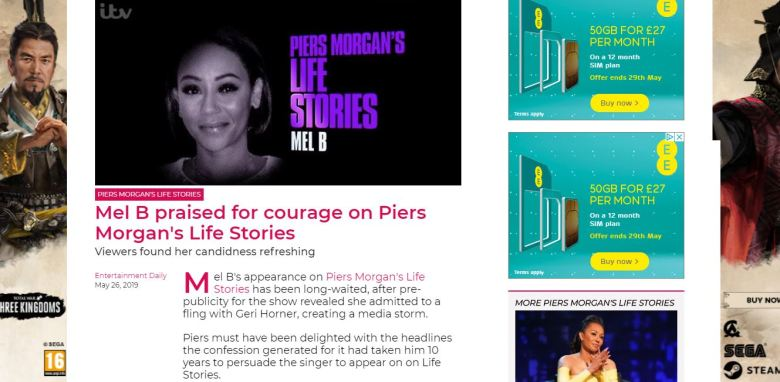 Mel B on Piers Morgan's Life Stories