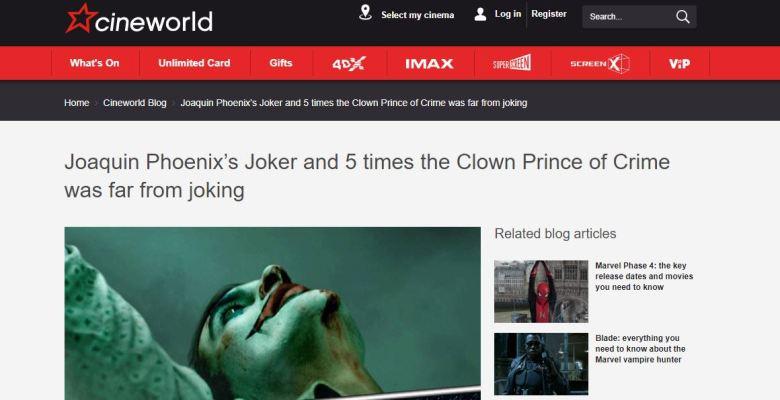 Cineworld Joker Feature Screengrab