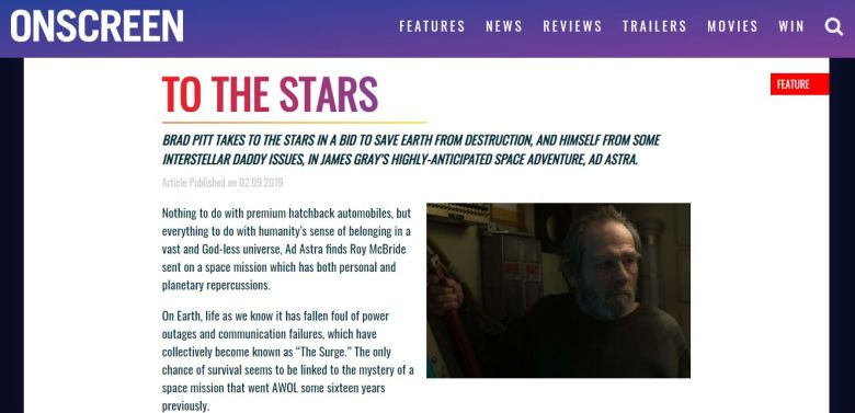 Ad Astra Onscreen Magazine Screenshot