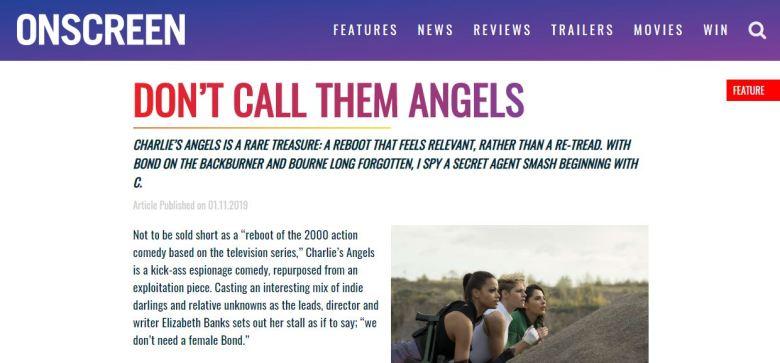 Charlies Angels Onscreen Magazine Screengrab