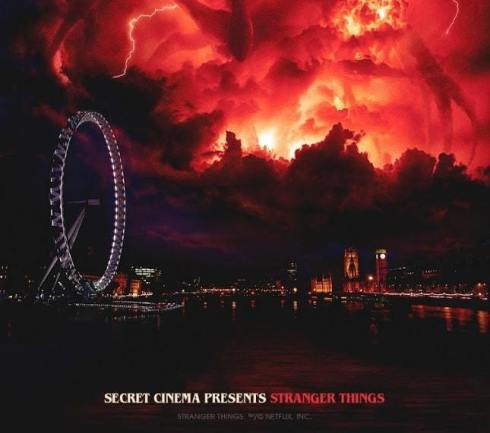 Secret Cinema Presents Stranger Things London Eye Poster
