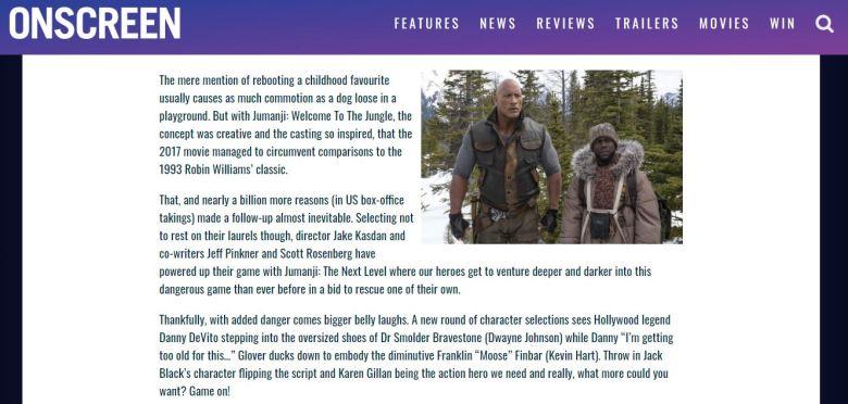 Onscreen Mag Jumanji Screengrab