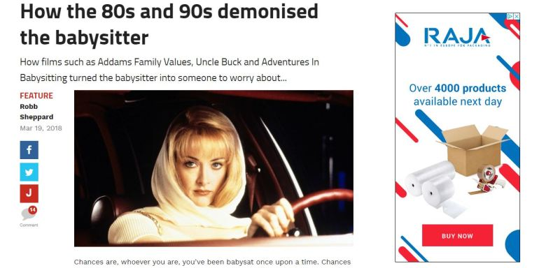 80s 90s movies demonised babysitter