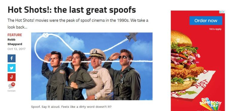 Hot Shots! The Last Great Spoof Screengrab