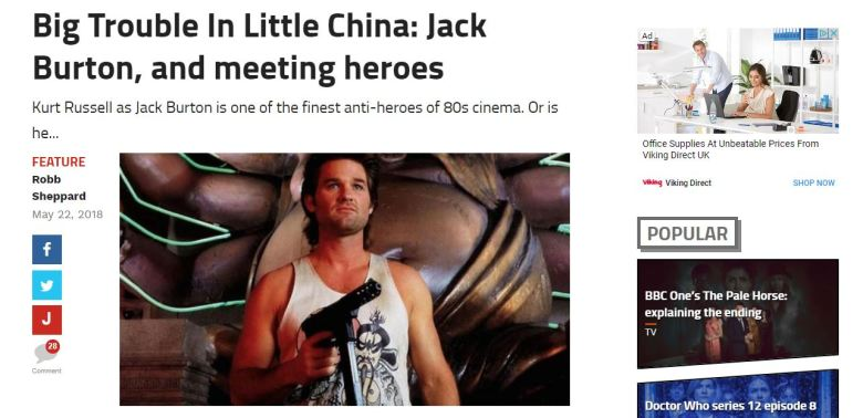 Big Trouble in Little China screengrab
